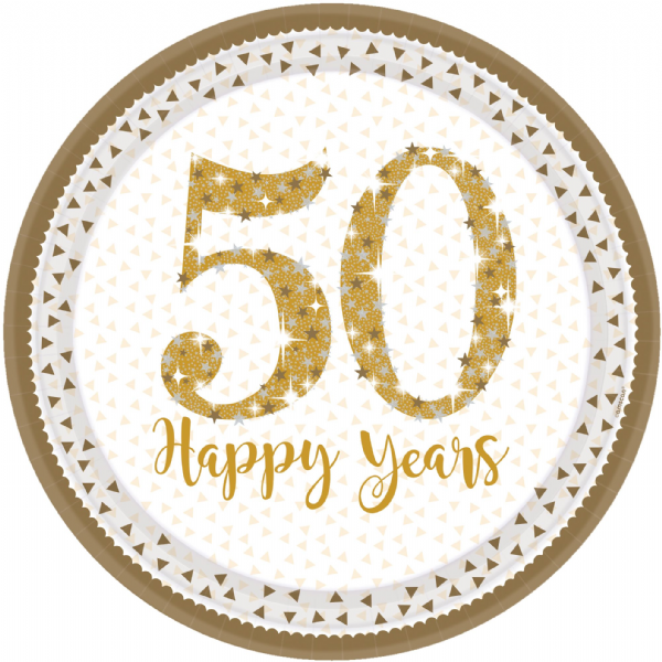 Golden Anniversary Paper Plates